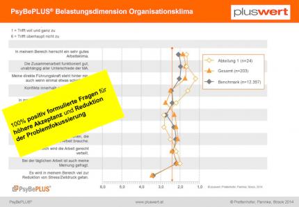 PsyBePLUS Belastungsdimensionen Organisationsklima